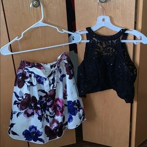 Beautiful Two Piece Floral Dress